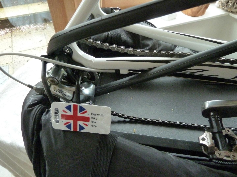 derailleur protection for Burwash Bike Box Hire